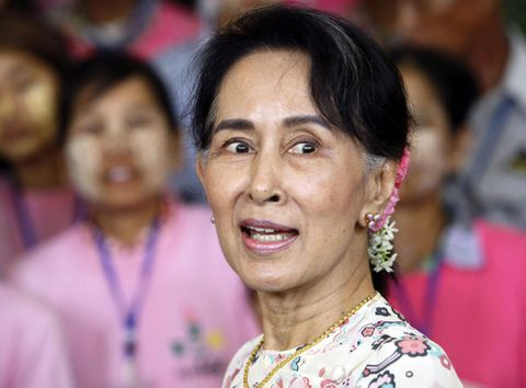 Thousands call for withdrawal of Suu Kyi's Nobel Prize