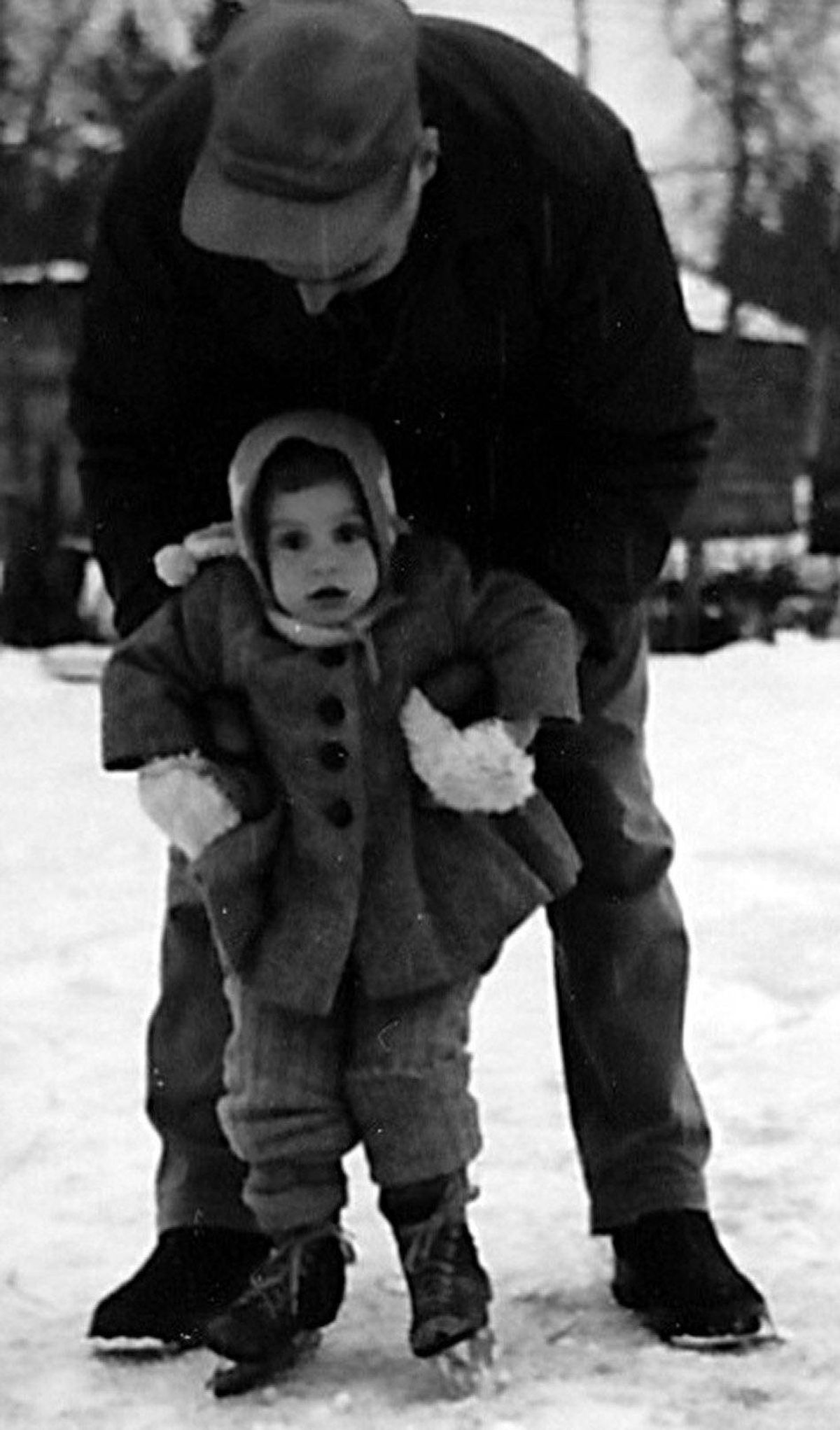 My dad has been gone many years now, but whenever I look at this photo of him teaching me to skate, it takes me back to my childhood and the man who exemplified all the best a father could be.