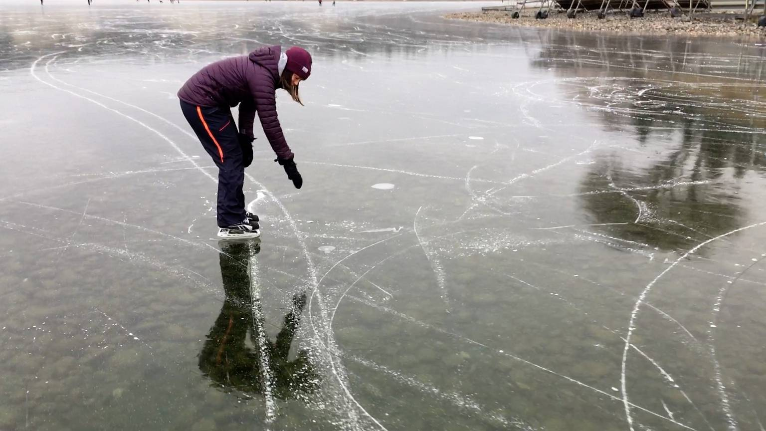 Look Up Number >> Skaters glide over rare black ice on Lake Windermere in B ...