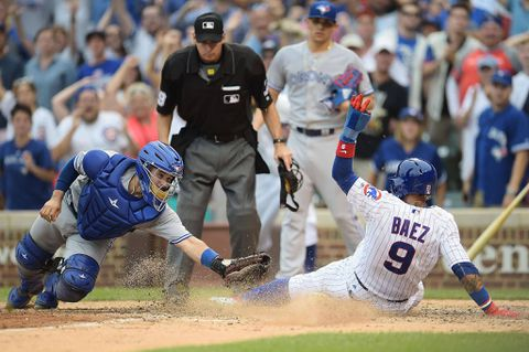 Chicago Cubs walk-off on Avila's two-run single to secure sweep