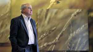 Ian White, President and CEO of the Canadian Wheat Board, poses for a photo in the lobby of the Canadian Wheat Board's office in Winnipeg February 3, 2012.