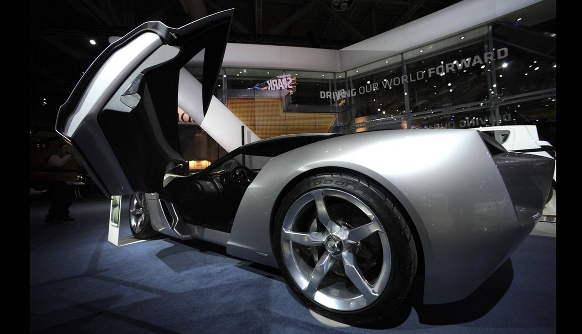 Corvette Stingray Concept vehicle at the media preview of the Canadian International Auto Show in Toronto.