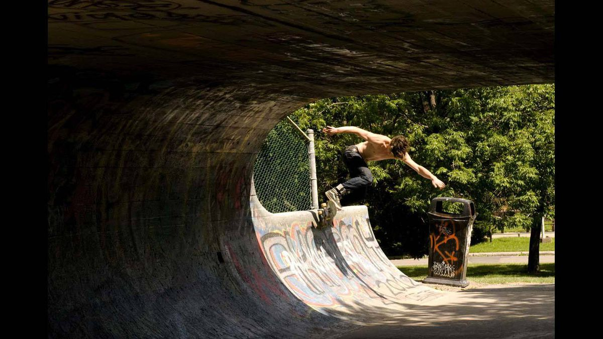 """Frederic Lemay spends an afternoon at a Montreal skate park, whichlocals have dubbed Le Gros """"O,"""" in 2010."""