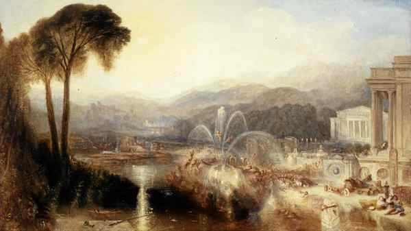 Joseph Mallord William Turner (British, 1775-1851). The Fountain of Indolence, 1834 oil on canvas 105.7 x 166.4 cm. The Beaverbrook Art Gallery/The Beaverbrook Foundation (in dispute, 2004).Fredericton, NB, Canada.