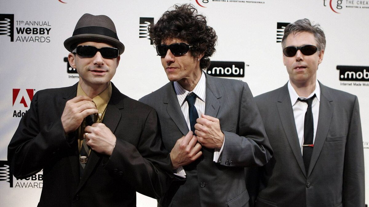 Members of the Beastie Boys arrive at the 11th annual Webby Awards honoring online content in New York on June 5, 2007. Adam Yauch, right, died Friday.
