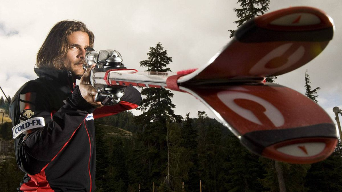 Canadian National Ski Cross team member Nik Zoricic of Toronto, Ont. poses for a photo following a media event at Cypress Mountain, in North Vancouver, B.C., on Sept. 15, 2009.