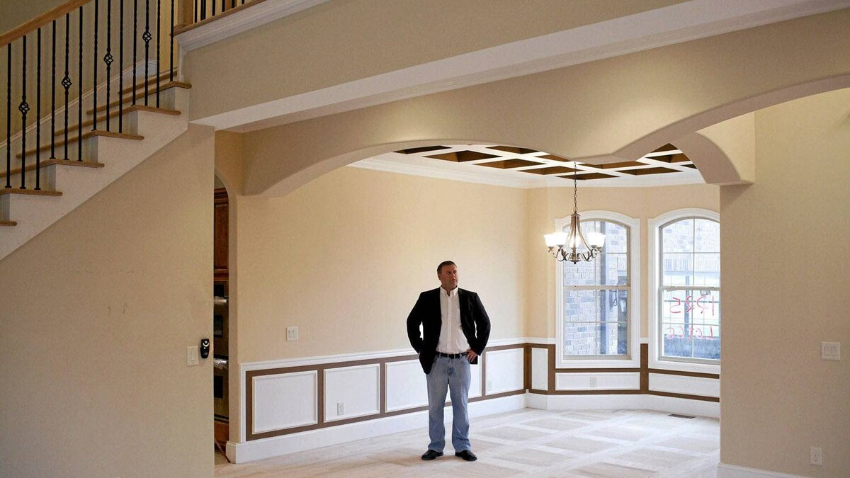 Tomer Minuskin at one of the homes he has built for sale in Nashville.