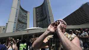 Don Fraser voices his displeasure with Mayor Rob Ford's no show during the launch of Pride week.