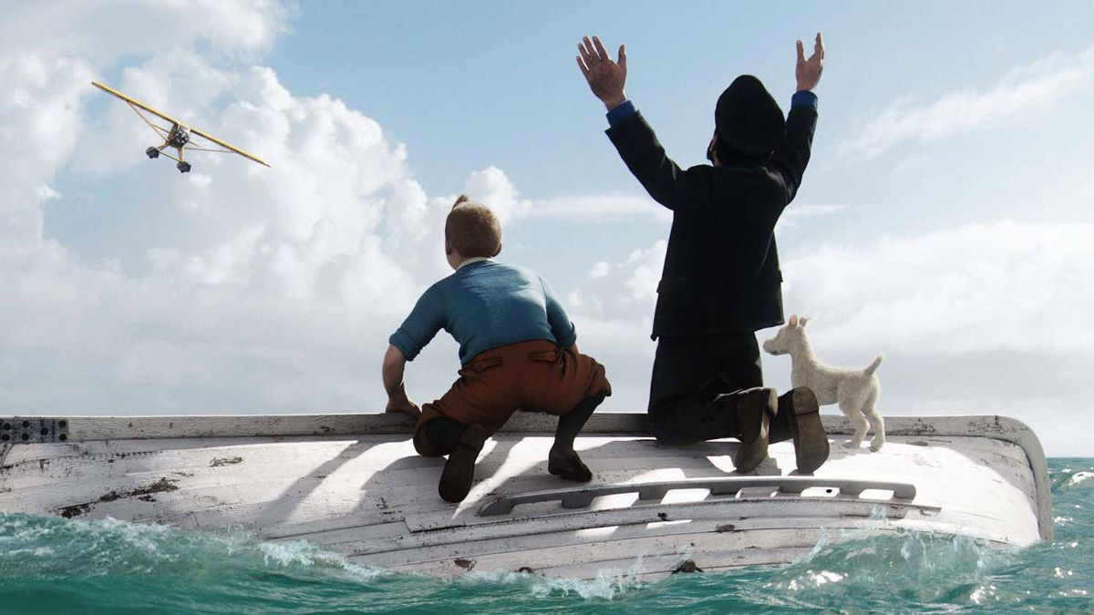 """A scene from """"The Adventures of Tintin."""""""