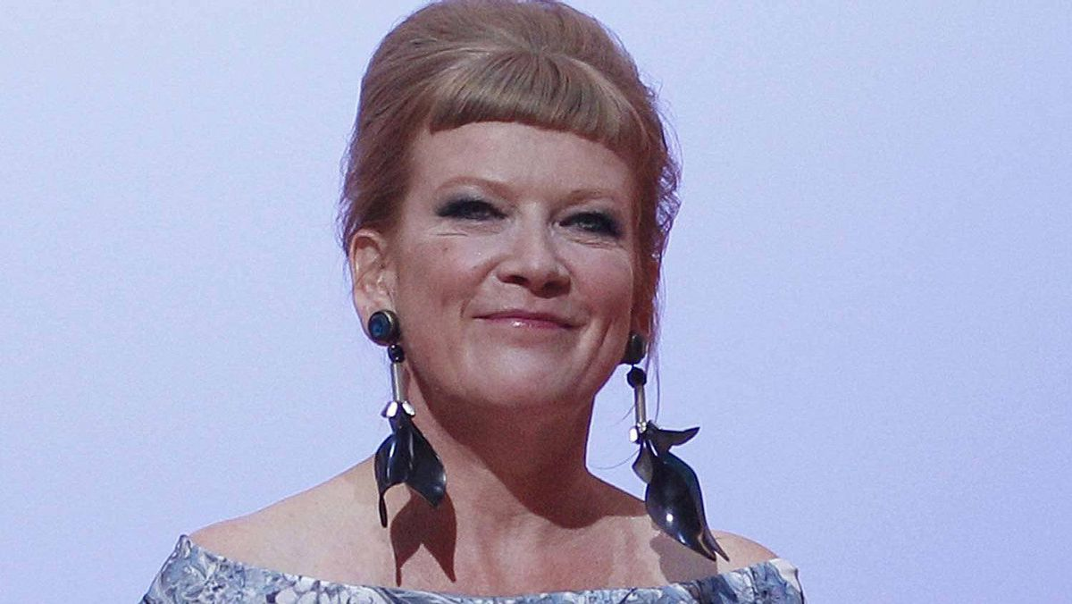 Jury member Andrea Arnold arrives at the opening ceremony of the 65th Cannes Film Festival May 16, 2012.