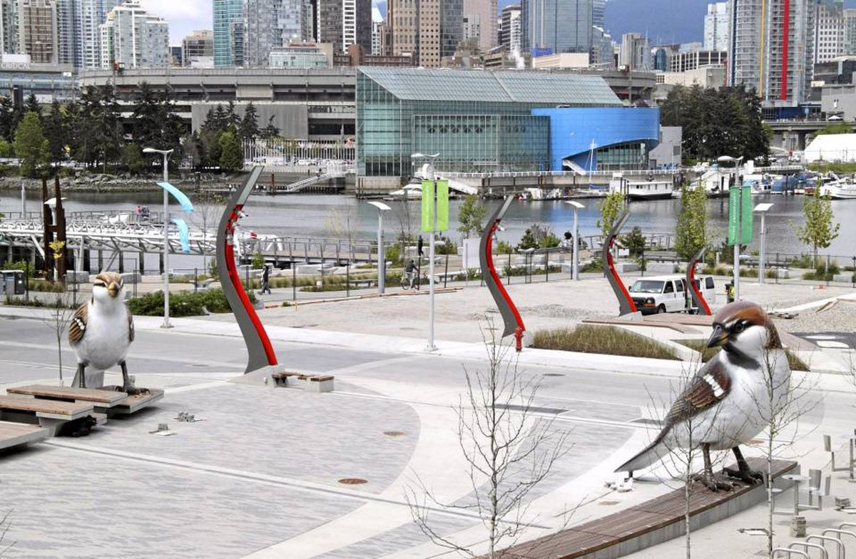 Myfanwy MacLeod's Vancouver installation The Birds.