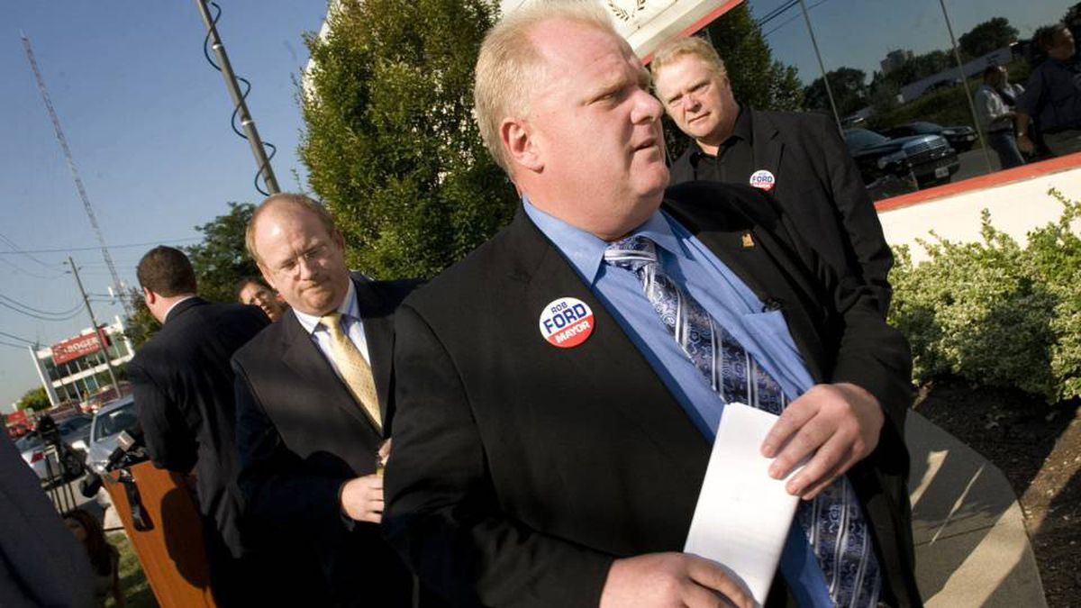 Mayoral candidate Rob Ford admitted that he was charged with failing to provide a breathalyzer test during a trip to Florida more than a decade ago at a press conference in Toronto, Ont. Aug.19, 2010.
