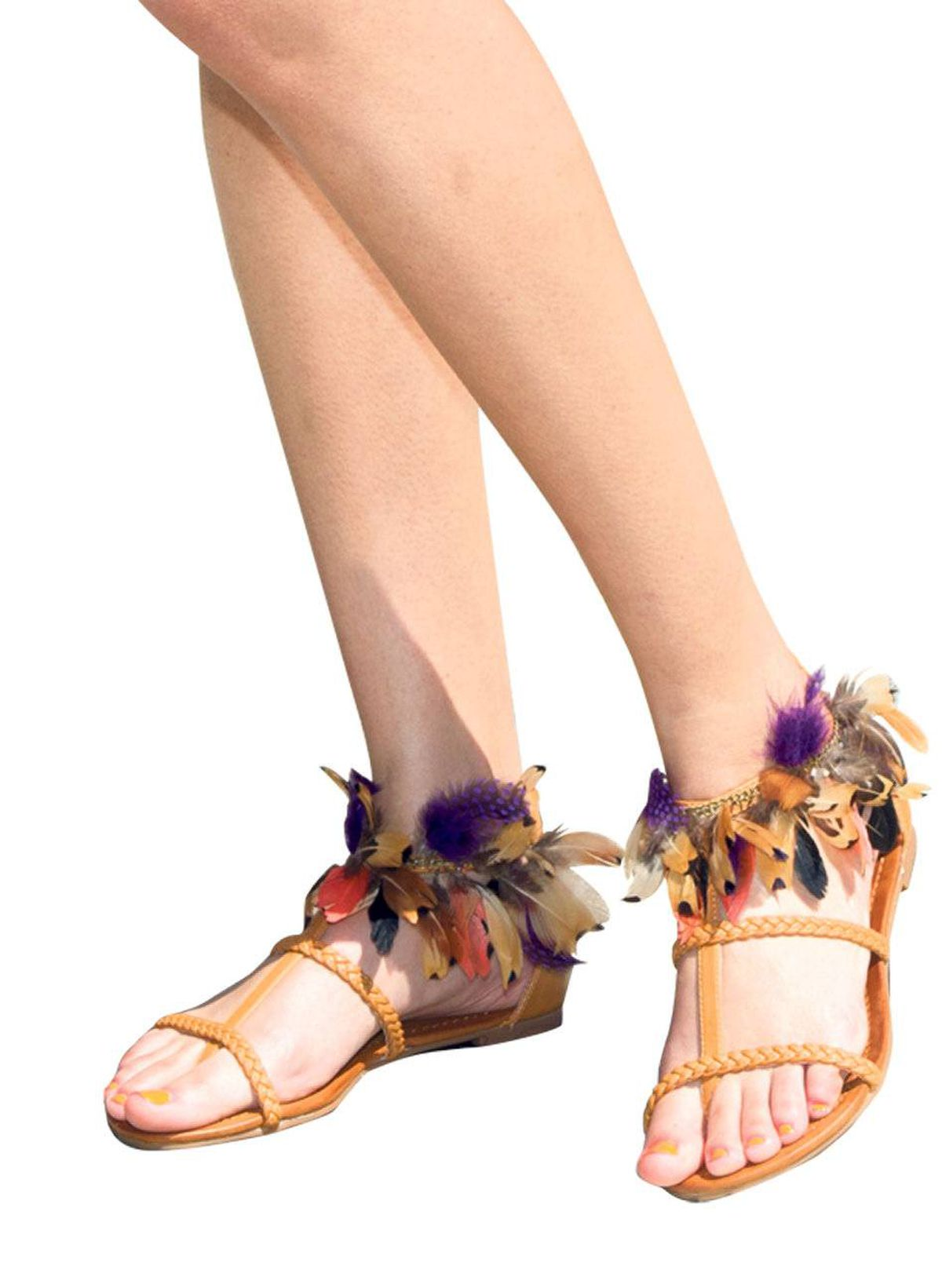 Flouncy ankle-strap flats give new meaning to ruffling your feathers. Aldo flats, $60.
