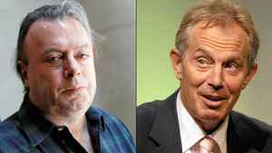 Christopher Hitchens, left, will debate Tony Blair about the influence of religion.
