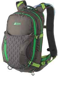 Stow it away For an extended outing on the trails, pack your gear in MEC's Eldorado Hydration Daypack. Its multiple pockets are roomy enough to stow a helmet, extra clothes, a first aid kit, snacks and more. A contoured hip belt steadies your load even on steep descents. $85; mec.ca