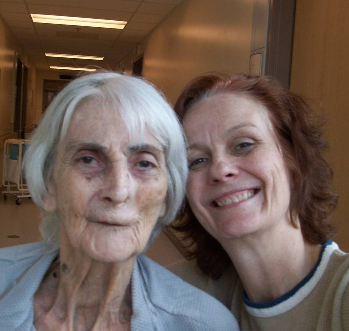 This is mom and me at the Elizabeth Bruyere Long Term Care Centre. She took care of me, now I do what I can to take care of her. Love you Mom. - Charlene