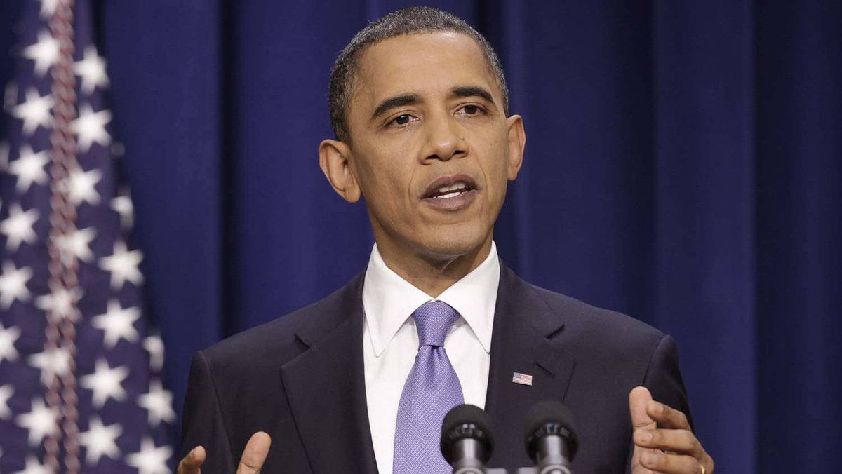 "July 1, 2010 ""There should be no doubt – the United States and the international community are determined to prevent Iran from acquiring nuclear weapons,"" Mr. Obama warned as he slapped another round of sanctions on Tehran."