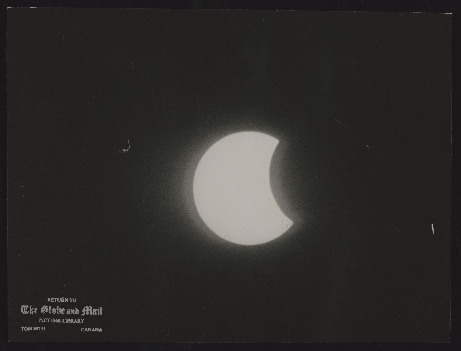 ECLIPSES (View of solar eclipse from Toronto at 3:45 P.M. on July 10/72.)