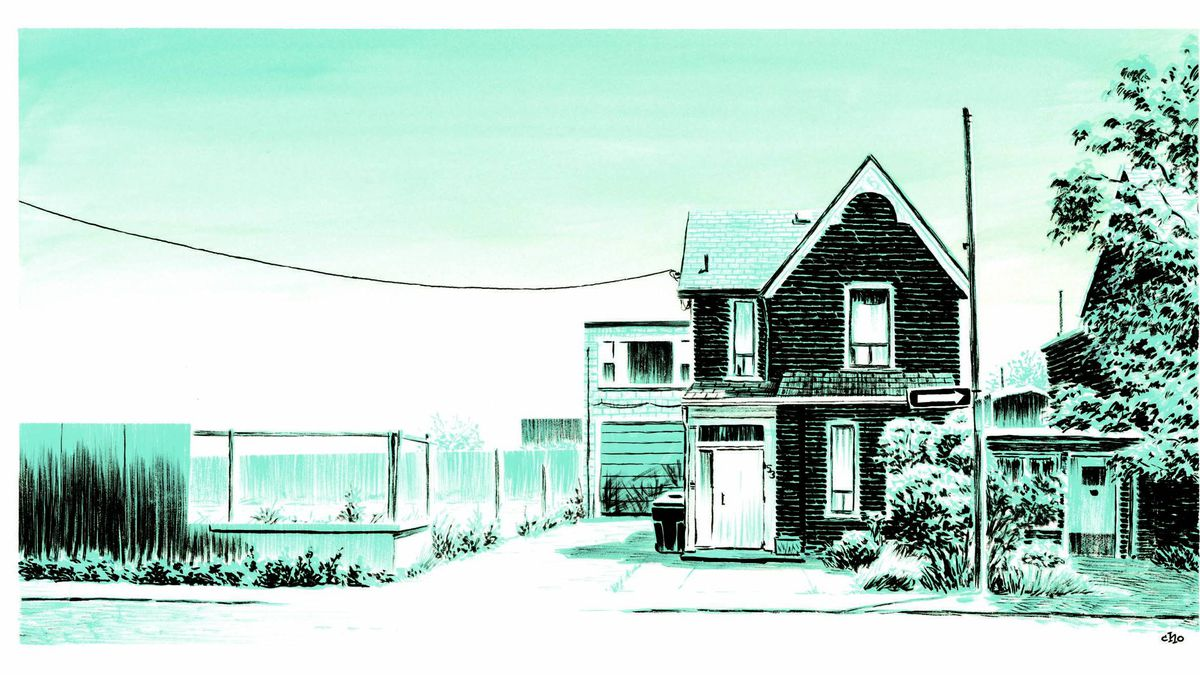 From Michael Cho's new book, Back Alleys and Urban Landscapes.