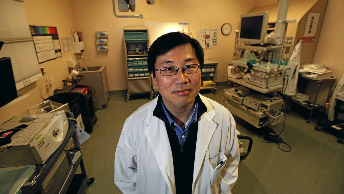 Dr. Young-In J. Kim, Gastroenterology and Hepatology at St. Michael's Hospital and also a professor at The University of Toronto, poses for a photo at the hospital in Toronto, Ontario, Canada.