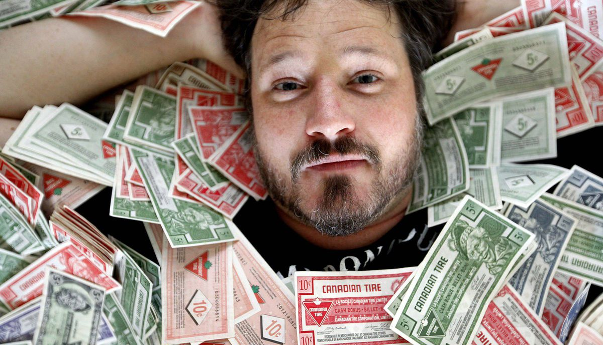 Musician Corin Raymond is raising Canadian Tire money to help pay for his next endeavors.
