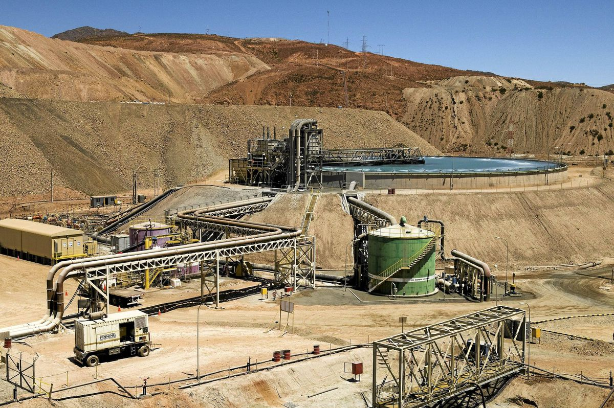 Annual production levels in the open pit at Carmen de Andacollo are forecast to hit of 80,000 tonnes.