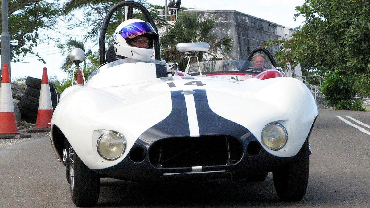 Typical of the lightweight specials produced by innovative Brit racing car builders in the 1950 was the Elva Mk 2 driven by Tom Jones. The Mk2 was first seen in 1957, powered by a 1,100cc Coventry-Climax engine.