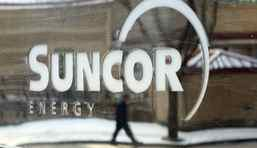 A Suncor Energy sign in Calgary.