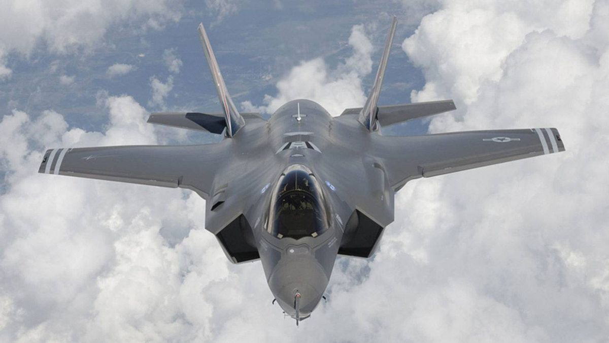 A F-35 Lightning II, also known as the Joint Strike Fighter (JSF), fighter aircraft seen as it arrives at Edwards Air Force Base in California in this May 2010 file photograph.