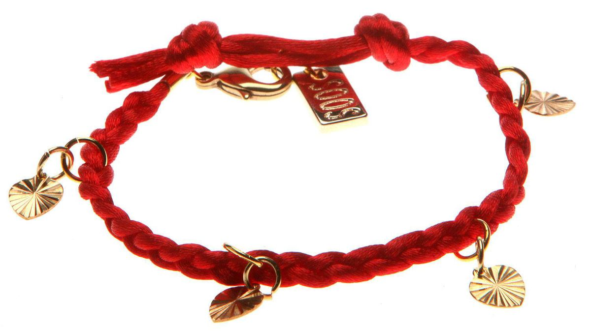 Soos red braided bracelet, $30 through www.soosrocks.com.