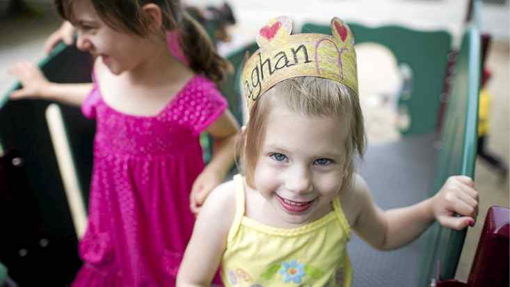 Five-year-old Meaghan McCarthy plays with friends on the playground at Earl Haig Public School in Toronto, Ont. June 16/2011. Meaghan, who suffers from cancer rarely misses school even during her treatment.