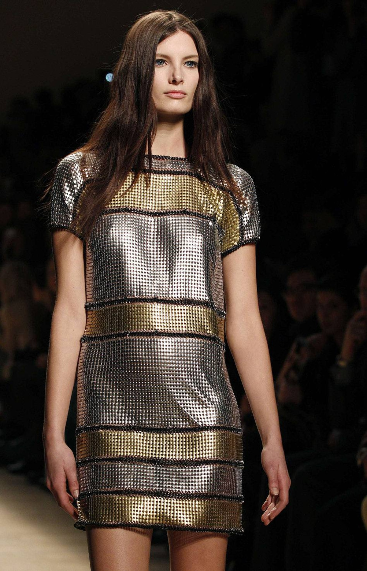 This sweater-style dress proves there's no limit to what can be done with chainmail.