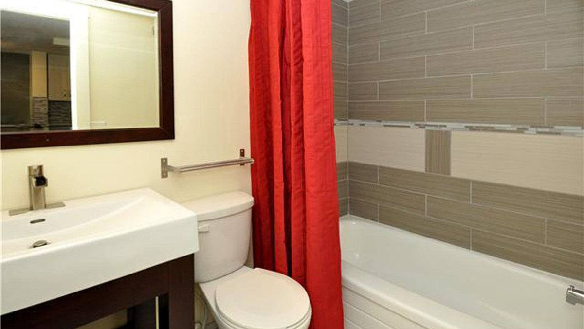 It also includes an in-suite washer and dryer, east-facing balcony and an updated bathroom.