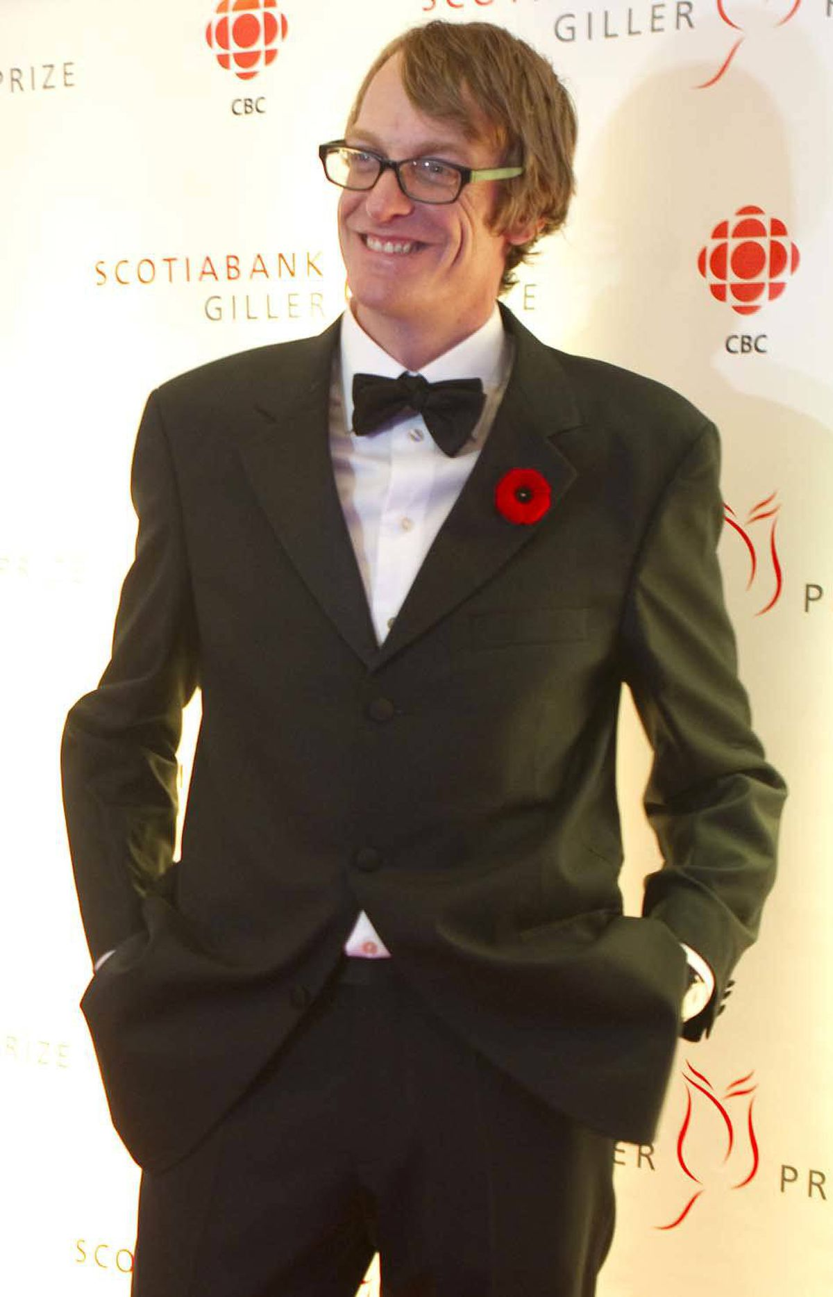 """Patrick deWitt, nominated author of """"The Sisters Brothers"""" and winner of the Writers' Trust Prize for Fiction last week, arrives at the Giller gala."""