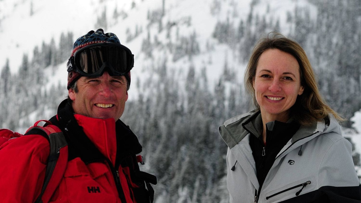 Kieran, left and Paula Gaul, owners of Big Red Cats cat-ski operation