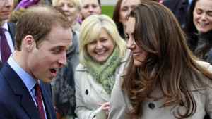 Prince William and Kate Middleton take part in a cancer fundraising event in in Belfast, Northern Ireland, on March 8, 2011.