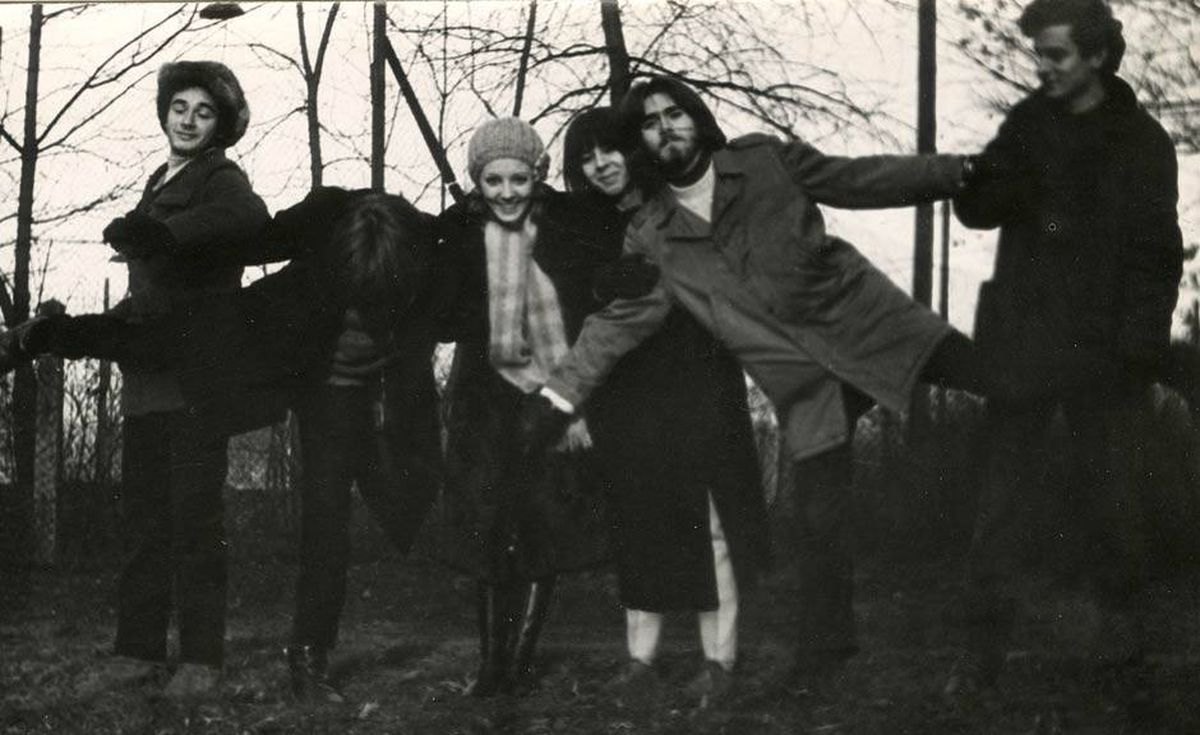 'My parents, Elka and Wojtek, playing rock stars in the woods of Poland, circa 1970-something,' writes Zosia Bielski.