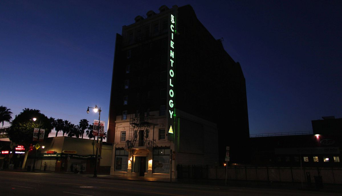 A Scientology building is shown along Hollywood Boulevard in Hollywood, California February 22, 2012.