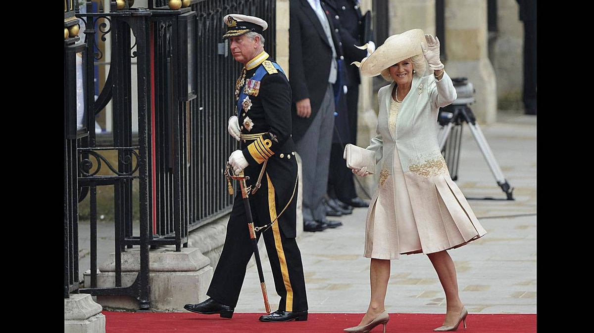Prince Charles, Prince of Wales and Camilla, Duchess of Cornwall arrive to attend the Royal Wedding of Prince William to Catherine Middleton at Westminster Abbey on April 29, 2011 in London, England.