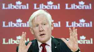 LIberal candidate Bob Rae at an Ottawa press conference on April 19, 2011.