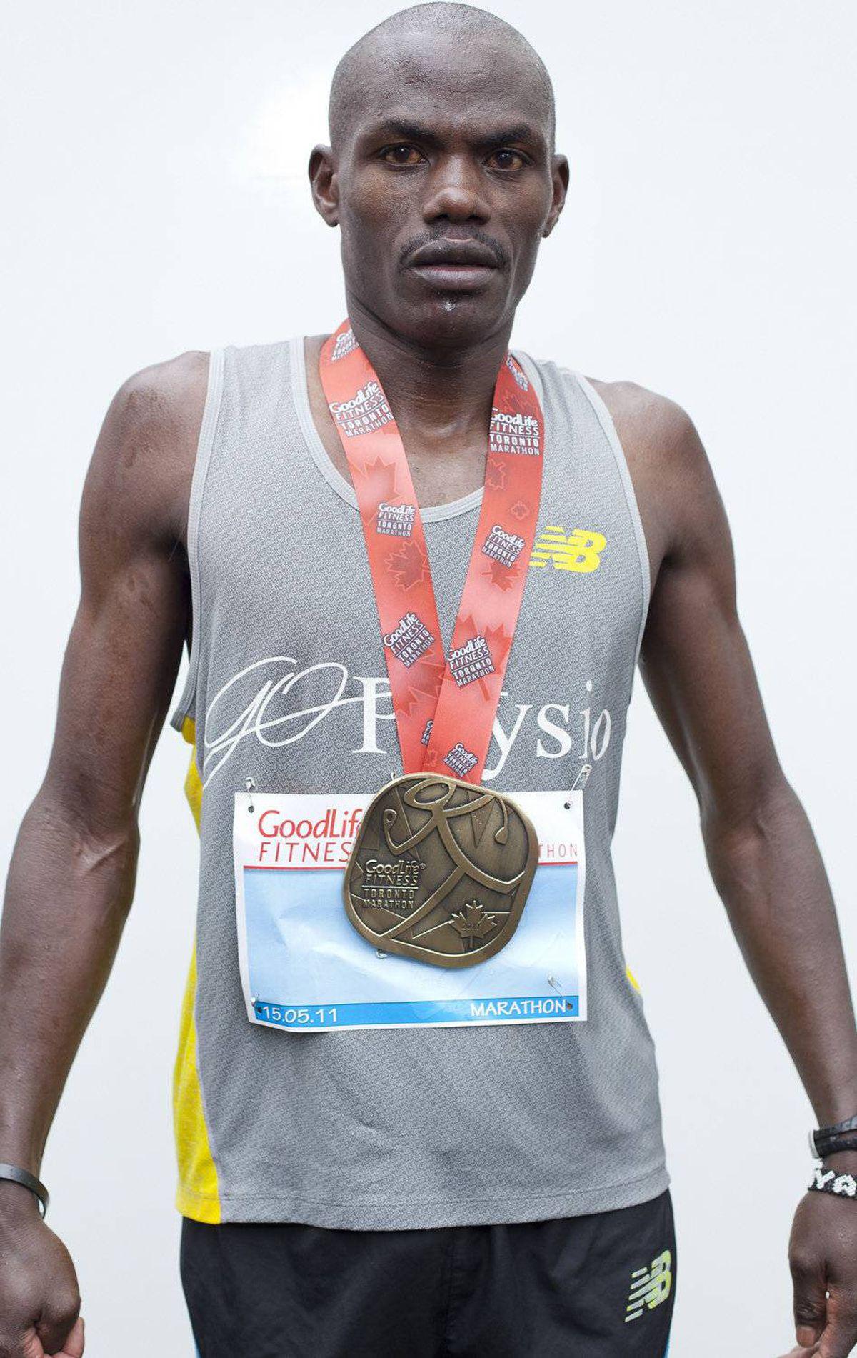 Josephat Ongeri of Kenya, 2nd place - 2:29:18.5 Ryan Enn Hughes For The Globe and Mail
