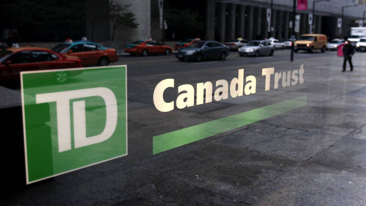 A view of a branch of a TD Canada Trust bank in Toronto November 9, 2007.
