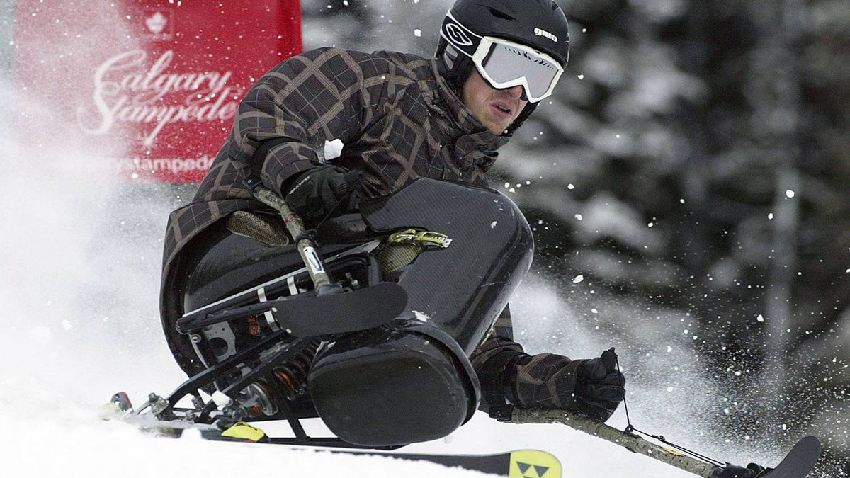 Disabled skier Josh Dueck. (Jeff Bassett for the Globe and Mail)