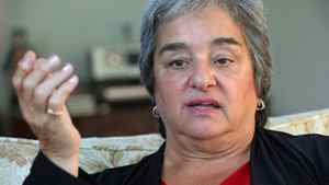 Newfoundland and Labrador NDP leader Lorraine Michael gives an interview at her home in St. John's, on Sept. 13, 2011.