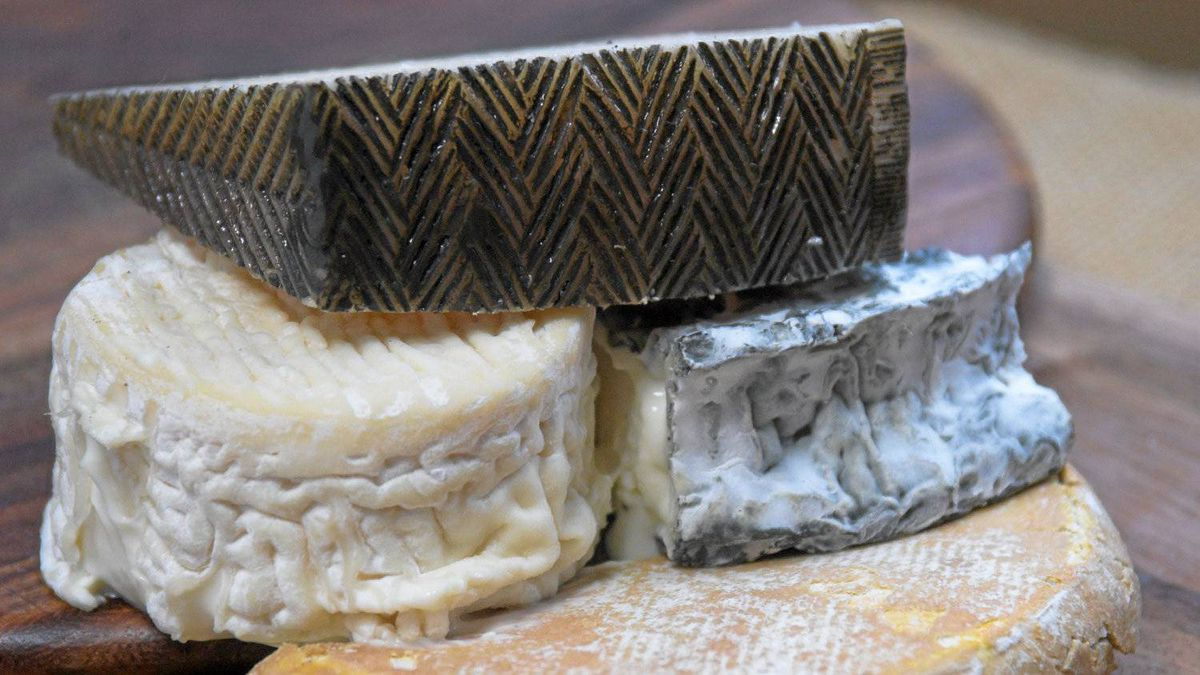 Cheeses with rinds.