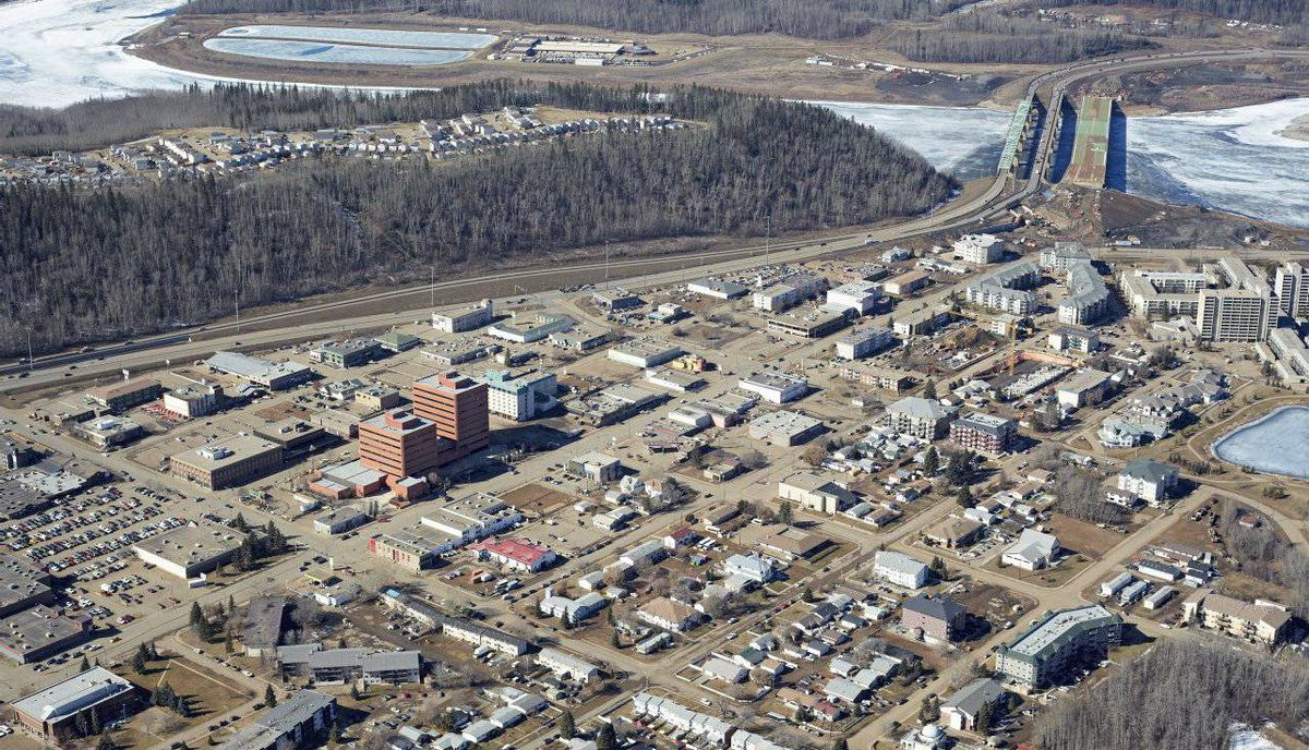 Downrown Fort McMurray.