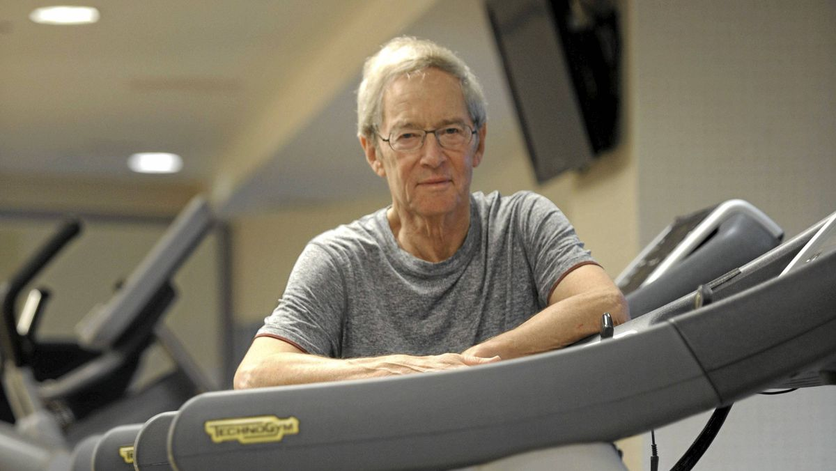 Lawrence S. Bloomberg, former chair of National Bank Financial and a board of director with the Mount Sinai Hospital Foundation is photographed working out on exercise equipment at the start of his day on May 16 2011. Bloomberg is behind the Bloomberg -Manulife Prize for the Promotion of Active Health. The prize , worth $50 000, will recognize research into physical activity and wellness.