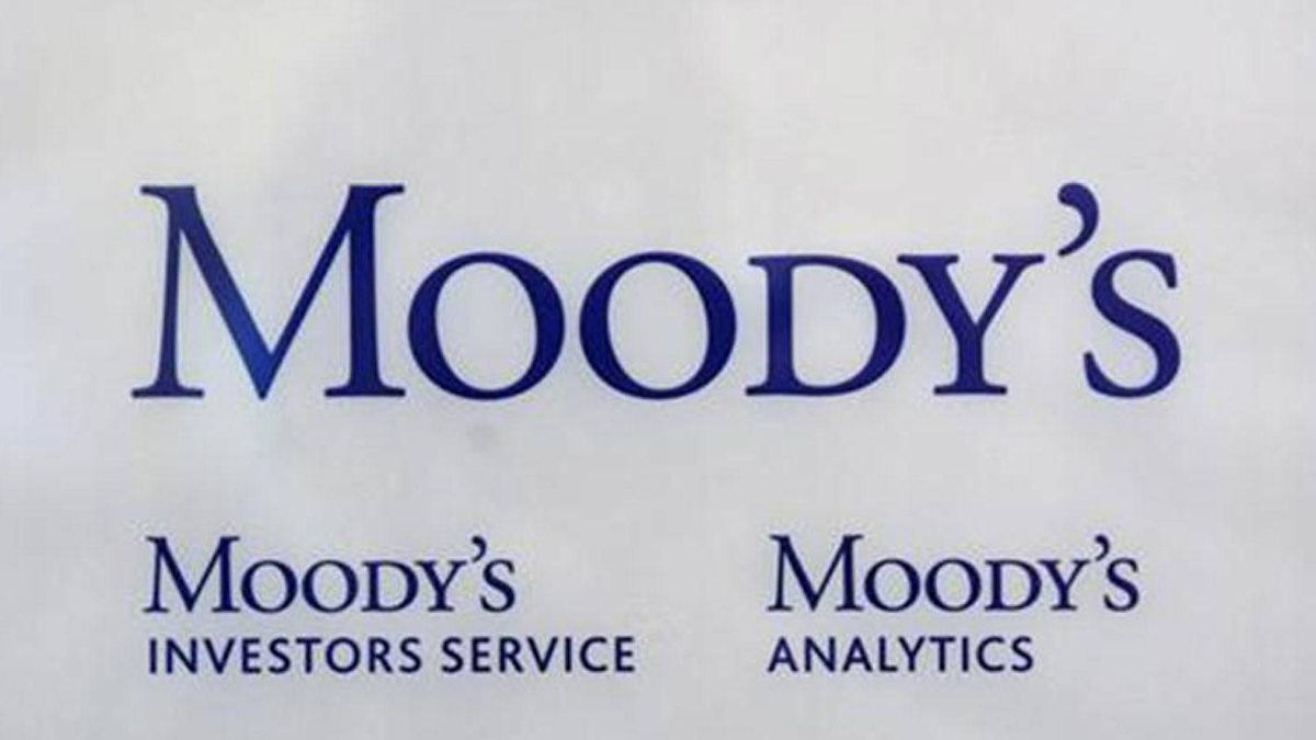 The logo of credit rating agency Moody's Investor Services is seen outside the office in Paris October 24, 2011.