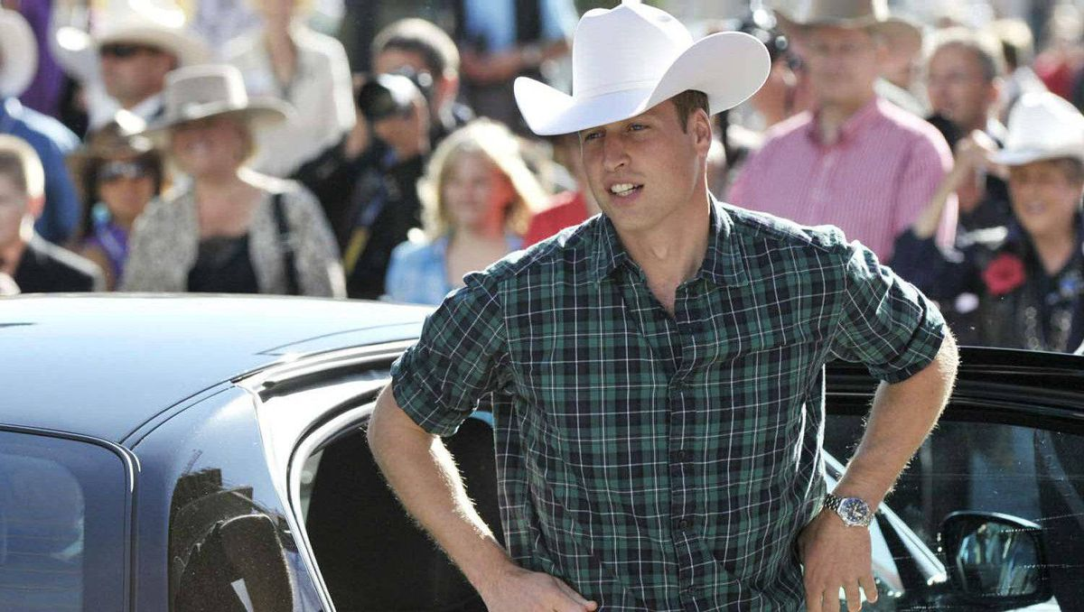 The Duke of Cambridge arrives at the Calgary Stampede parade in Calgary, Friday July 8, 2011.