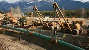 File photo of an existing section of the Trans Mountain pipeline.